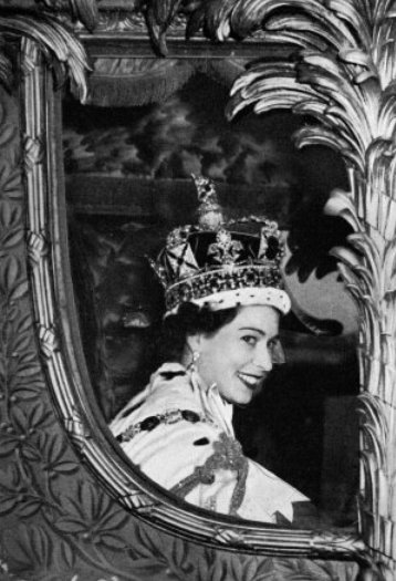 Queen Elizabeth on Coronation Day