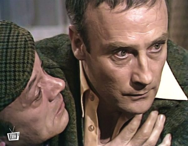 Russell Hunter and Edward Woodward in 'Callan'