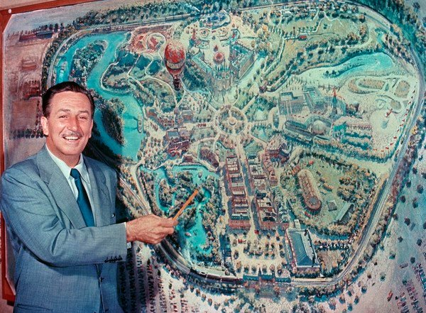 Walt Disney shows off Disneyland
