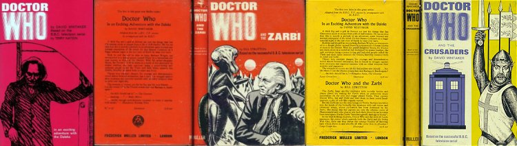 Doctor Who hardback books from the 1960s
