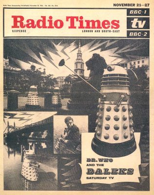 The Daleks Radio Times cover