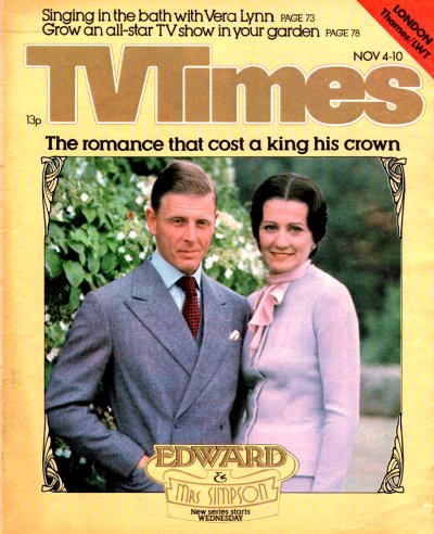 Edward and Mrs Simpson TV Times cover