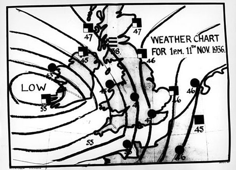 Pre War BBC Weather Chart