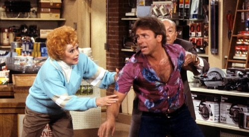 Lucille Ball and John Ritter