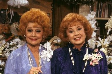 Lucille Ball and Audrey Meadows