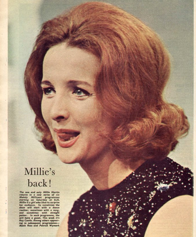Millicent Martin in a TV Times feature.