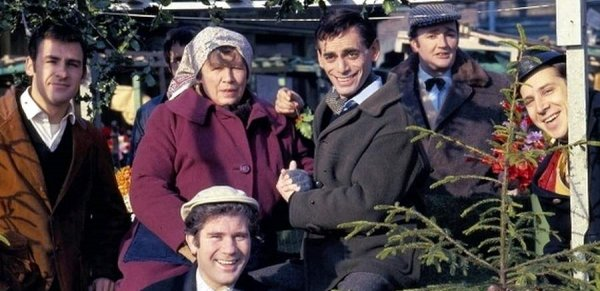 The cast of Market In Honey Lane