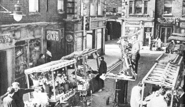 On the set of Market In Honey Lane