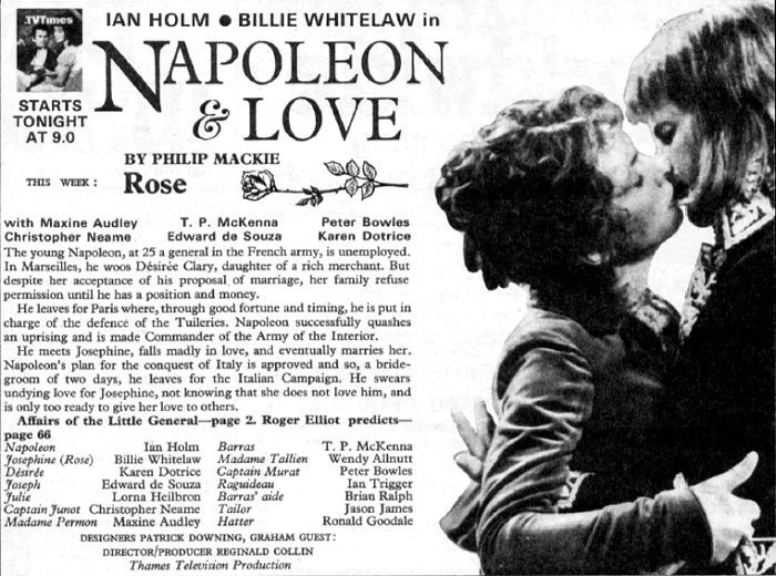 Napoleon and Love - Thames Television 1974