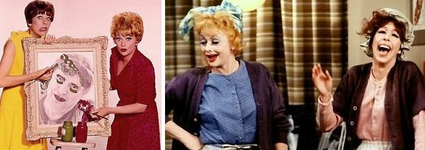 Carol Burnett and Lucille Ball