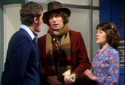 The Doctor meets Harry Sullivan and Sarah Jane Smith
