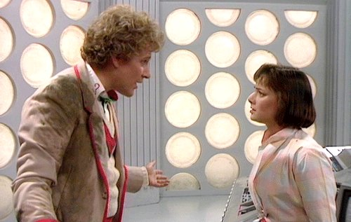 Colin Baker and Nichola Bryant