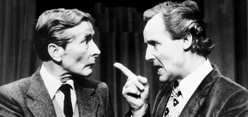 Kenneth Williams and Nicholas Parsons