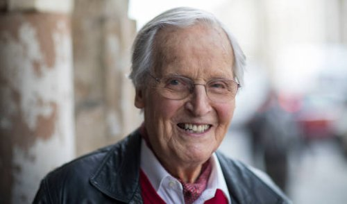 Nicholas Parsons in later years.