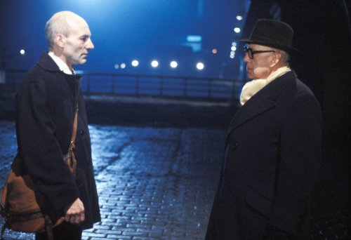 Patrick Stewart and Alec Guinness in Smiley's People