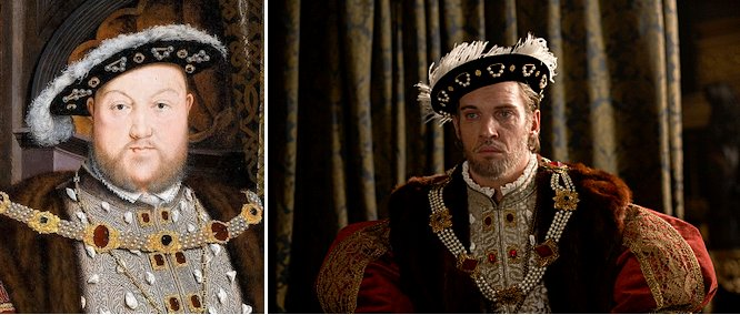 Henry VIII portrait and as seen in 'The Tudors'
