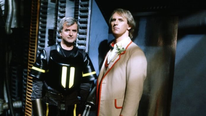 Rodney Bewes and Peter Davison in Doctor Who