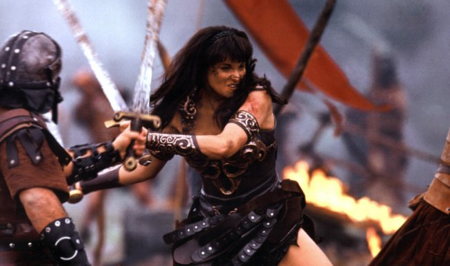 Xena goes into battle